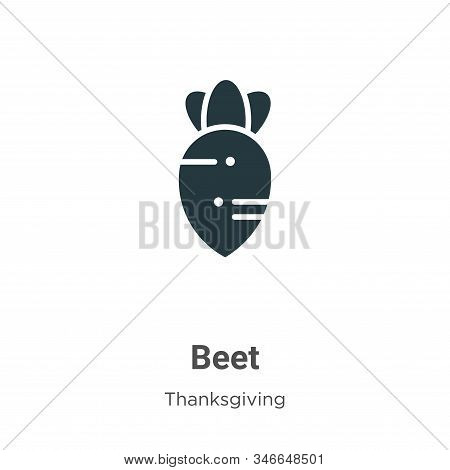 Beet icon isolated on white background from thanksgiving collection. Beet icon trendy and modern Bee