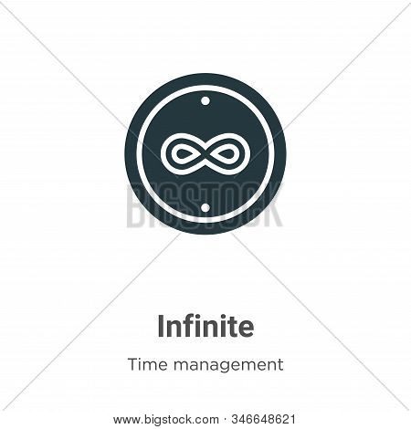 Infinite icon isolated on white background from time management collection. Infinite icon trendy and