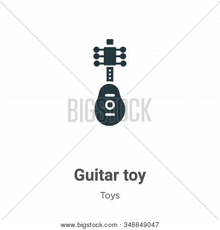 Guitar toy icon isolated on white background from toys collection. Guitar toy icon trendy and modern