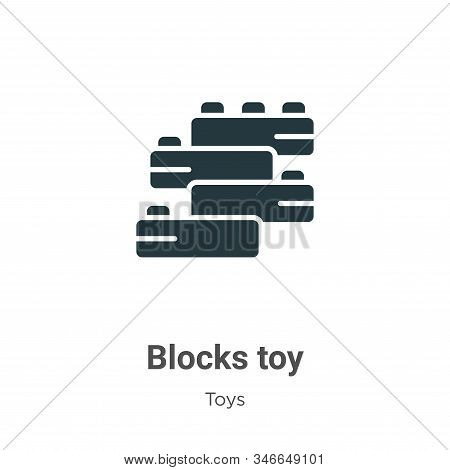 Blocks toy icon isolated on white background from toys collection. Blocks toy icon trendy and modern