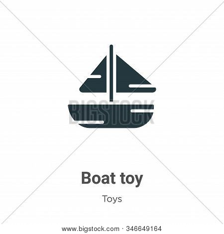 Boat toy icon isolated on white background from toys collection. Boat toy icon trendy and modern Boa