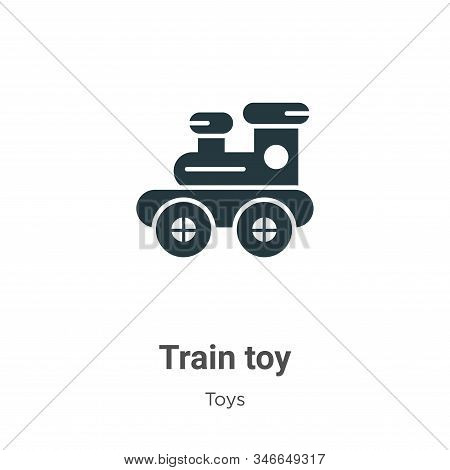 Train Toy Glyph Icon Vector On White Background. Flat Vector Train Toy Icon Symbol Sign From Modern