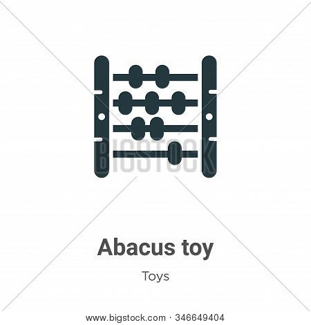 Abacus Toy Glyph Icon Vector On White Background. Flat Vector Abacus Toy Icon Symbol Sign From Moder