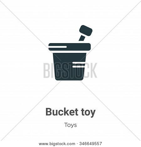 Bucket toy icon isolated on white background from toys collection. Bucket toy icon trendy and modern