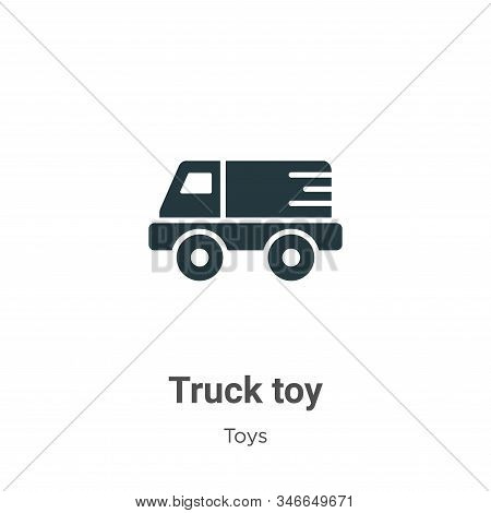 Truck toy icon isolated on white background from toys collection. Truck toy icon trendy and modern T