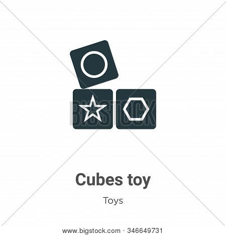 Cubes toy icon isolated on white background from toys collection. Cubes toy icon trendy and modern C