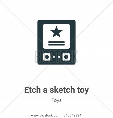 Etch a sketch toy icon isolated on white background from toys collection. Etch a sketch toy icon tre