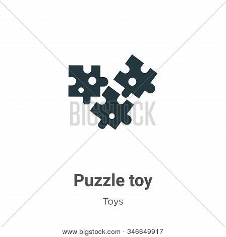 Puzzle toy icon isolated on white background from toys collection. Puzzle toy icon trendy and modern