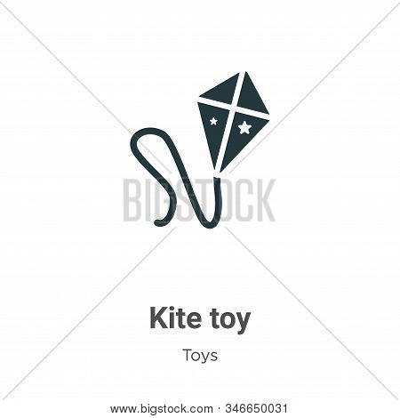 Kite toy icon isolated on white background from toys collection. Kite toy icon trendy and modern Kit