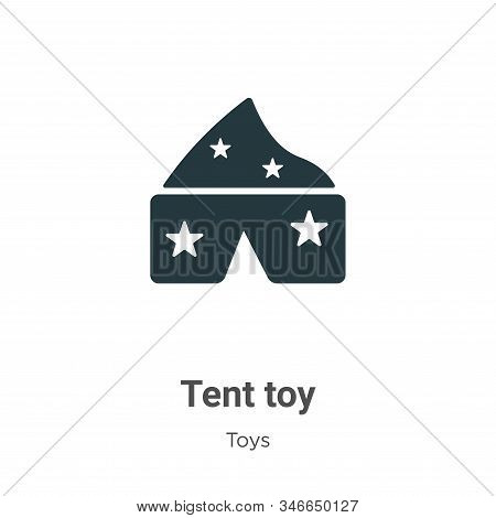 Tent toy icon isolated on white background from toys collection. Tent toy icon trendy and modern Ten