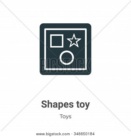 Shapes toy icon isolated on white background from toys collection. Shapes toy icon trendy and modern
