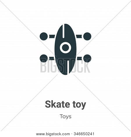 Skate toy icon isolated on white background from toys collection. Skate toy icon trendy and modern S