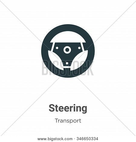 Steering icon isolated on white background from transport collection. Steering icon trendy and moder