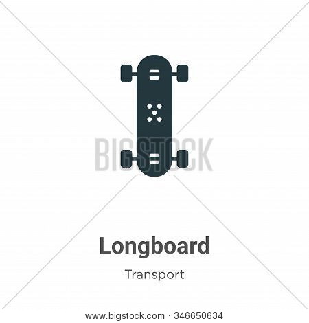 Longboard icon isolated on white background from transport collection. Longboard icon trendy and mod