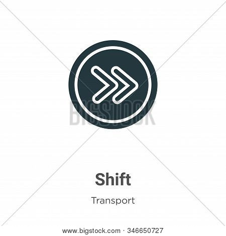 Shift Glyph Icon Vector On White Background. Flat Vector Shift Icon Symbol Sign From Modern Transpor