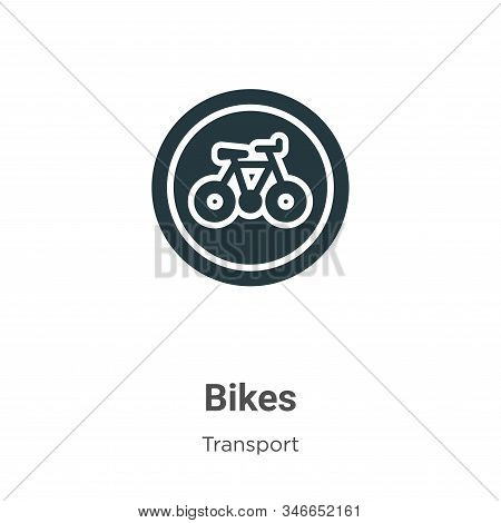 Bikes icon isolated on white background from transport collection. Bikes icon trendy and modern Bike