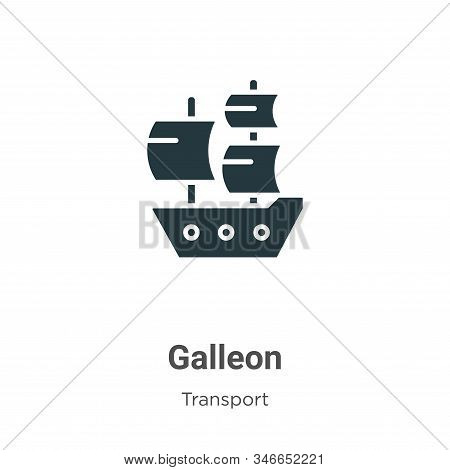 Galleon icon isolated on white background from transport collection. Galleon icon trendy and modern