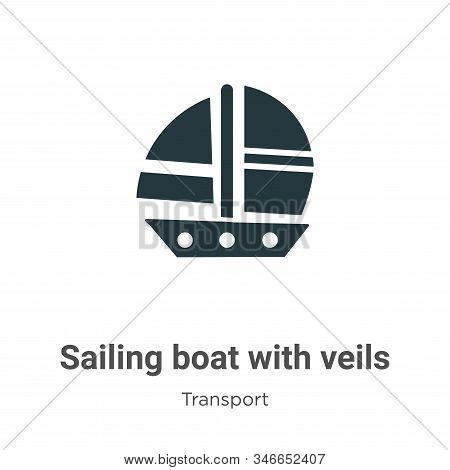 Sailing boat with veils icon isolated on white background from transport collection. Sailing boat wi