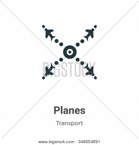 Planes icon isolated on white background from transport collection. Planes icon trendy and modern Pl