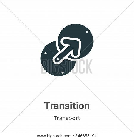 Transition Glyph Icon Vector On White Background. Flat Vector Transition Icon Symbol Sign From Moder