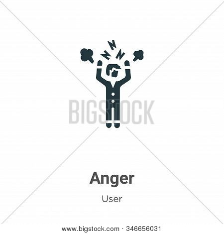Anger icon isolated on white background from user collection. Anger icon trendy and modern Anger sym