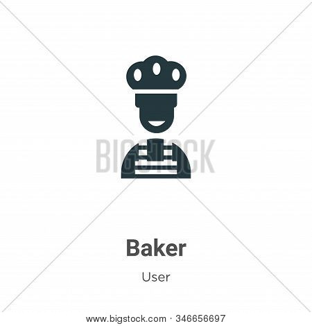 Baker icon isolated on white background from user collection. Baker icon trendy and modern Baker sym
