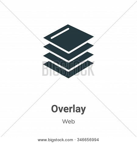 Overlay icon isolated on white background from web collection. Overlay icon trendy and modern Overla