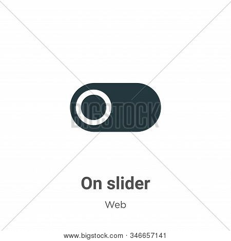 On slider icon isolated on white background from web collection. On slider icon trendy and modern On