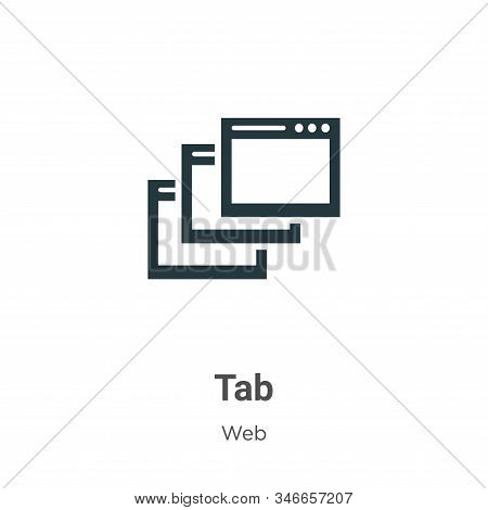 Tab icon isolated on white background from web collection. Tab icon trendy and modern Tab symbol for