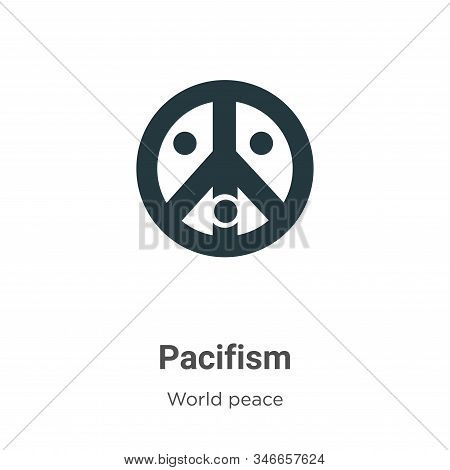 Pacifism Glyph Icon Vector On White Background. Flat Vector Pacifism Icon Symbol Sign From Modern Wo