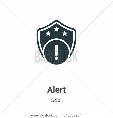 Alert icon isolated on white background from gdpr collection. Alert icon trendy and modern Alert sym