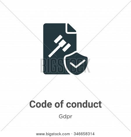 Code of conduct icon isolated on white background from gdpr collection. Code of conduct icon trendy