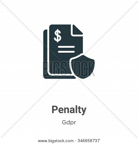 Penalty icon isolated on white background from gdpr collection. Penalty icon trendy and modern Penal