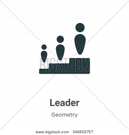Leader icon isolated on white background from geometry collection. Leader icon trendy and modern Lea