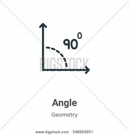 Angle icon isolated on white background from geometry collection. Angle icon trendy and modern Angle