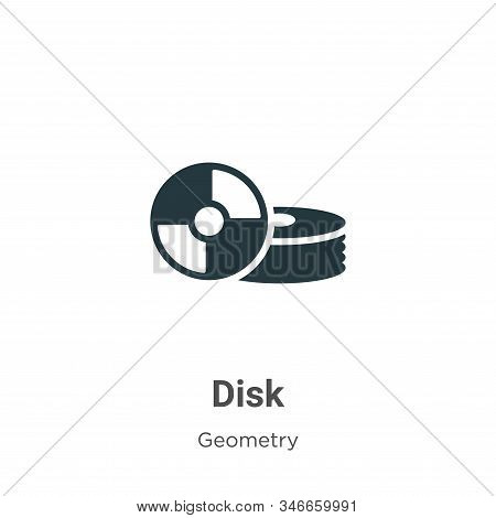 Disk icon isolated on white background from geometry collection. Disk icon trendy and modern Disk sy