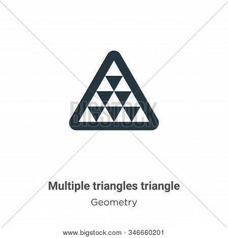 Multiple triangles triangle icon isolated on white background from geometry collection. Multiple tri