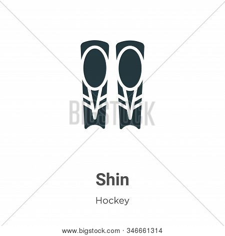 Shin Glyph Icon Vector On White Background. Flat Vector Shin Icon Symbol Sign From Modern Hockey Col