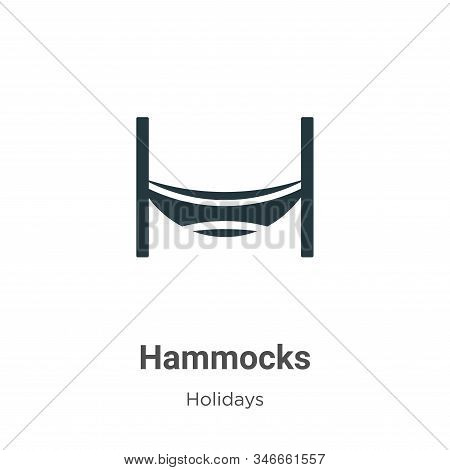 Hammocks icon isolated on white background from holidays collection. Hammocks icon trendy and modern