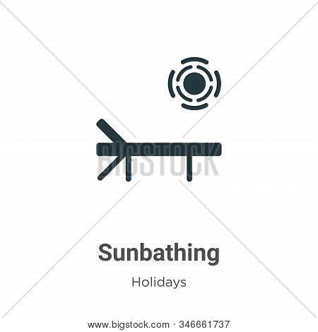 Sunbathing icon isolated on white background from holidays collection. Sunbathing icon trendy and mo