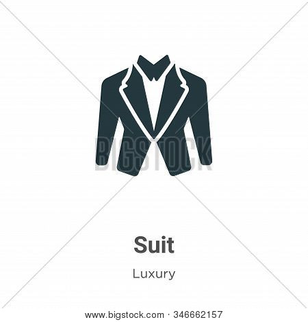 Suit icon isolated on white background from luxury collection. Suit icon trendy and modern Suit symb