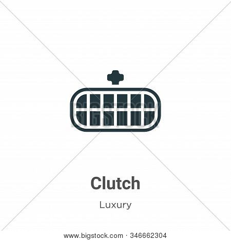 Clutch icon isolated on white background from luxury collection. Clutch icon trendy and modern Clutc