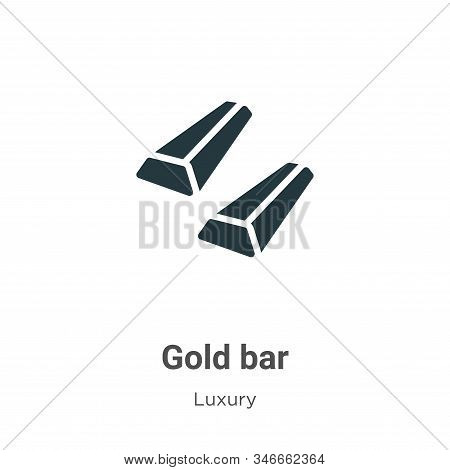 Gold bar icon isolated on white background from luxury collection. Gold bar icon trendy and modern G