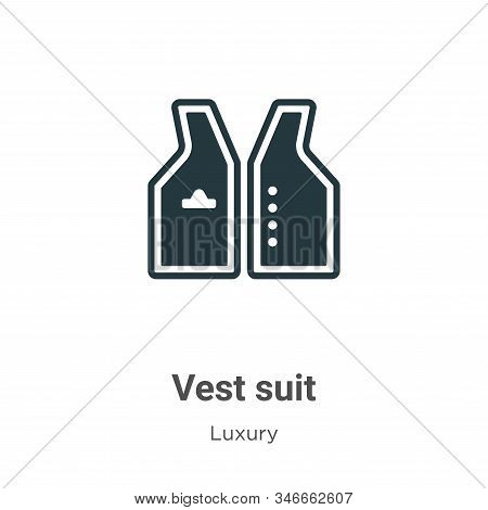 Vest suit icon isolated on white background from luxury collection. Vest suit icon trendy and modern