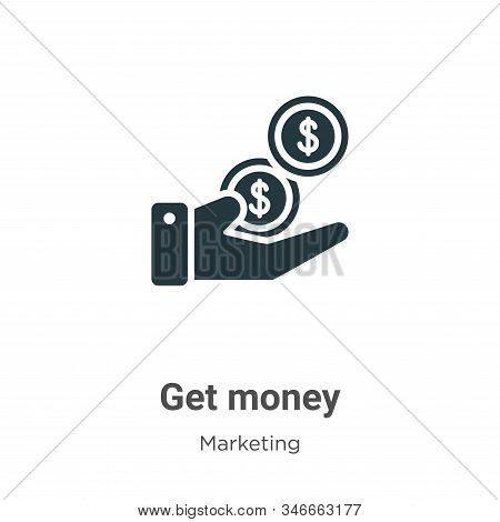 Get money icon isolated on white background from marketing collection. Get money icon trendy and mod