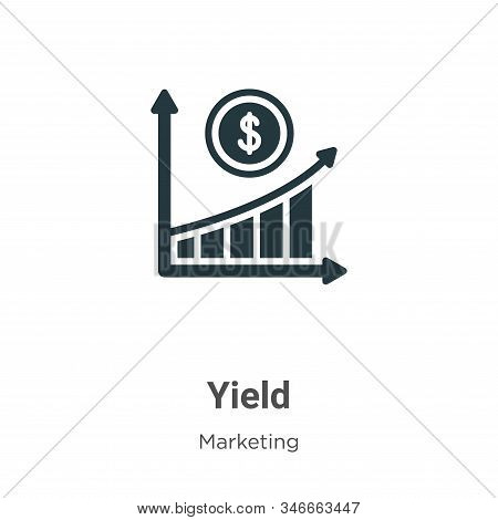 Yield icon isolated on white background from marketing collection. Yield icon trendy and modern Yiel