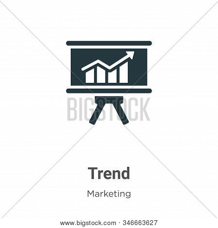 Trend icon isolated on white background from marketing collection. Trend icon trendy and modern Tren