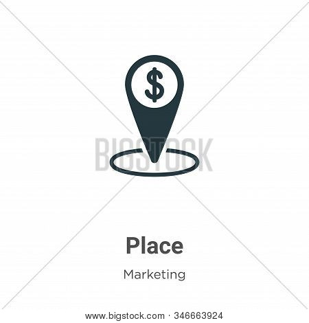 Place icon isolated on white background from marketing collection. Place icon trendy and modern Plac