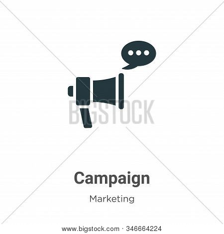 Campaign icon isolated on white background from marketing collection. Campaign icon trendy and moder