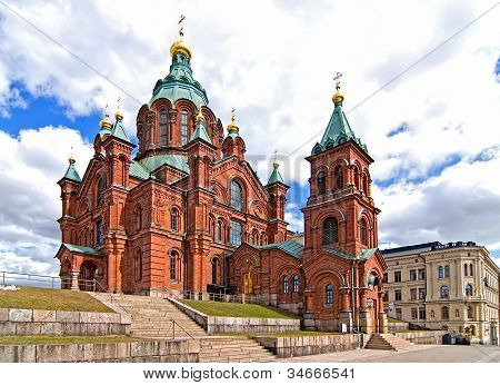 Uspensky Cathedral In Helsinki.